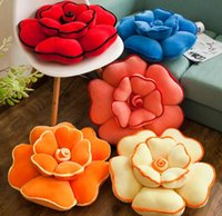 Wholesale flower cushions for sale - Large rose flowers plush toy sofa cushion office nap Hold pillow Valentine s Gifts Flower Pillow Plush Car Cushion cm LJJK1154