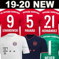 camisa muller al por mayor-2019 2020 Bayern Munich Munchen LEWANDOWSKI PAVARD camiseta de fútbol Hombres Mujeres Kits de niños MULLER ROBBEN KIMMICH ARP HERNANDEZ 19 20 NEUER de portero Tailandia calidad