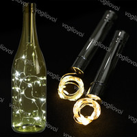 Wholesale dry decor for sale - Group buy LED Strings Holiday Warm White Silver LED LED Wine Bottle Lights Cork Shape Glass Bottle Stopper Lamp Christmas Garlands Decor EUB