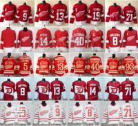 ingrosso ali delle maglie-Detroit Red Wings Maglie Hockey 13 Pavel Datsyuk 40 Henrik Zetterberg 8 Justin Abdelkader 19 Steve Yzerman 71 Larkin 91 Sergei Fedorov