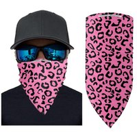 Wholesale animal print neck scarves resale online - Filter Magic Mask Outdoor Windproof Leopard Face Scarf Turban Neck Sun Protection Cycling Bandanas Protective Mask without filter LJJO7915