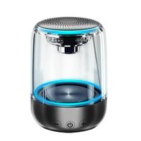 altavoz bluetooth transparente al por mayor-C7 portátil Bluetooth 5.0 Altavoz transparente LED luminoso subwoofer TWS 6D envolvente estéreo HIFI Enfriar teléfono de audio para teléfonos