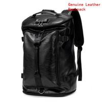 mochilas personalizadas al por mayor-marca de ventas de los hombres bolso multifuncional mochila portátil de moda de cuero mochila combinación personalizada diseño de la cerradura bolsa
