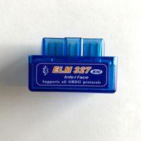 bluetooth otomatik tanılama toptan satış-Süper Mini ELM327 Bluetooth OBD2 ii V2.1 OBD2 Oto Kod Okuyucu Mini 327 Araba teşhis arayüzü ELM 327 Bluetooth