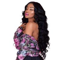 onda de peruca virgem malásia venda por atacado-Onda solta 360 Perucas de Renda Para As Mulheres Negras Cabelo Virgem Malaio Onda Solta 360 Full Lace Humano Perucas de Cabelo Com o Cabelo Do Bebê