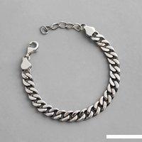 pulseras góticas para mujer al por mayor-EDS de plata 925 joyería de gama pulseras unisex 925 gótica de plata esterlina pulsera Kpop mujeres pulseras de cadena punk