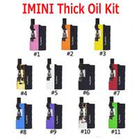 kit de bateria construído mod box venda por atacado-Original Imini Óleo Grosso Kit Embutido 500 mAh Bateria Mod 510 Tópico 0.5 ml 1.0 ml Liberdade V1 Tanque Cartucho Vaporizador Kits 100% Autêntico