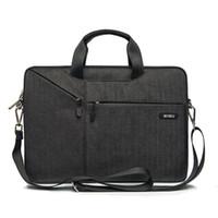 carcasa de portátil asus al por mayor-Funda para maletín para laptop 15.6 15.4 14.1 13.3 17.3 Bolsas de mensajero para MacBook Air 13 Funda Funda impermeable para portátil para MacBook Pro 15