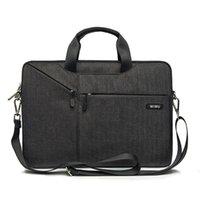 laptop taschen 17,3 zoll großhandel-Laptop-Tasche 15.6 15.4 14.1 13.3 17.3 Messenger-Taschen für das MacBook Air 13 Fall Wasserdichte Notebook-Tasche für das MacBook Pro 15
