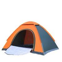 pessoas abertas venda por atacado-Tenda aberta rápida ao ar livre dupla automática camping 3-4 pessoas barraca do turista ao ar livre
