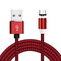 cabo de carregamento de dados magnéticos venda por atacado-Cabo USB Magnetic USB carregamento rápido cabo Tipo C Magnet cabo do carregador de dados de carga Micro Mobile Phone Cabo