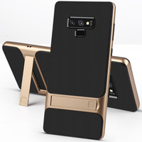vakalar telefon duruyor toptan satış-Tutucu Standı Telefon Kılıfı için Samsung Galaxy Not 8 9 S10 S9 S8 Artı Sert PC Yumuşak TPU Darbeye Ultra Ince Arka Kapak