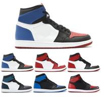 zapatos de plata de calidad al por mayor-Nuevo 1 High OG Game Royal Banned Shadow Bred Toe Zapatillas de baloncesto Hombre 1s Shattered Backboard Medalla de plata Zapatillas de deporte de alta calidad