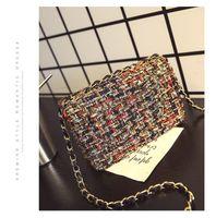 çantalar mini elmas toptan satış-2016 gerçek kış podyum yeni elmas flaş ipek tek omuz çantası özel retro tarzı