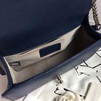 ingrosso catene di borse trapuntate-Alta Outer Blocco borsa di qualità Logo dell'annata delle donne ha imbottito la catena di borsa agnello nero Boy V-Stripe Shoulder Bag Lady Flap Bag