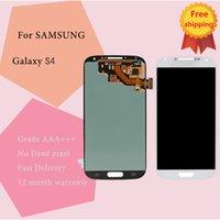 pantalla táctil digitalizadora galaxy s4 i545 al por mayor-Original para Samsung Galaxy S4 LCD i9500 I337 M919 I545 I9502 I9505 E300K pantalla táctil digitalizador piezas envío gratis