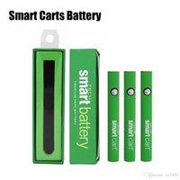 ingrosso la batteria di tensione variabile migliore-La migliore vendita Smart Carts Preriscaldare la batteria 380mAh Voltaggio variabile 510 Filo Caricabatterie Kit penna Vape per cartucce olio SmartCart
