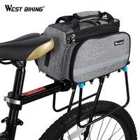 bisiklet rafı poşetleri toptan satış-BATı BISIKLET Bisiklet Çanta Bisiklet Pannier Depolama Bagaj Taşıyıcı Sepet Dağ Yolu Bisiklet Eyer Çanta Arka Raf Gövde Çanta # 24683