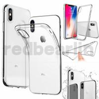 peau de cristal iphone achat en gros de-100pcs cas de TPU souple clair pour Iphone 8 cas de couverture de peau de téléphone portable en cristal transparent pour iphone 8