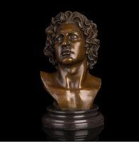 Wholesale antique statues imitation resale online - Arts Crafts Copper Best Selling Famous Figure Sculpture Man Bust Bronze Statue Souvenir Gifts Home Office Decoration