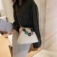 Wholesale ladies hand purse wedding resale online - Ladies Hand Bag Clutch Purse Wedding Party Bag With Acrylic Handle Luxury Design PU Leather Women Shoulder Bags