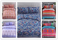 Wholesale country beds for sale - Group buy 3D Printing New ethnic style Bedding Set With Pillowcase For All Size