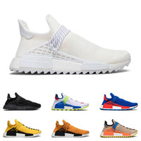 Wholesale cycling packs for sale - Group buy New human race hu Pharrell Williams men women running shoes NERD Black Blank Canvas Homecoming Solar Pack Mother trainer sport sneaker