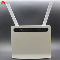 Wholesale unlocked huawei hotspot router for sale - Group buy Unlocked Used Huawei Wireless Router B593 B593s B593u with Antenna G LTE WiFi Hotspot Router with SIM Card PKB310