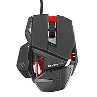 e377f2f1a99 Mad Catz RAT4 Wired Optical USB LED RGB Mouse with 9 Programmable Buttons  Optical Ergonomic Gaming Mouse Gamer Mice for Computer