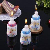 favores do chuveiro da vela venda por atacado-A mamadeira Shaped Candle Bay Rapazes Raparigas bolo de aniversário Velas Baby Shower Party Favors