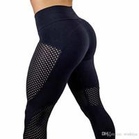 schwarze knöchellangen leggings großhandel-2017 neue schnell trocknende Garn Leggings Fashion knöchellangen Legging Fitness Black Leggins