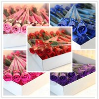 Wholesale decorative soaps for gifts resale online - Scented Bath Soap Rose Soap Flower Petal For Wedding Valentines Day Mothers Day Teacher s Day Gift RRA2612
