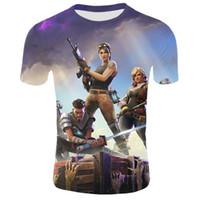 cooles mädchen scherzt t-shirt großhandel-12-20 Jahre 2019 Sommer Kinder Cool Freddy Teenager 3D T-Shirt Jungen Mädchen Spiel Cartoon Design T-Shirt Kinder Royale T-Shirts Tops