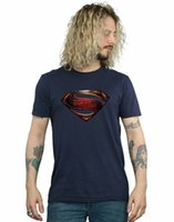 film amblemi toptan satış-Gömlek erkek Adalet Ligi Film Gömlek Amblem T-ShirtO-Boyun