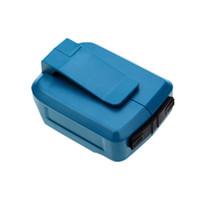 конвертер адаптера питания для usb оптовых-Электроинструменты ABS прочный компактный адаптер Safe Twin USB Converter Зарядное устройство Замена Практично Для Makita Bl1830 Bl1840