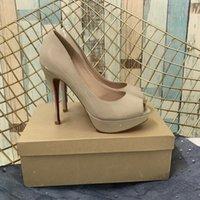vestidos gruesos de novia al por mayor-Tacones altos Sandalias Zapatos de tacón de novia Zapatos de novia para mujer Zapatos de tacón Rojo Pantalones gruesos punta abierta Sandalias Wholsale