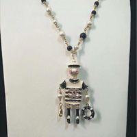 colares de cristal high-end venda por atacado-High-end das mulheres colar de pérolas importado austríaco colar de diamantes de luxo colar de cristal branco outono multi-camada camisola broche