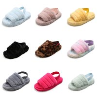 Wholesale white flower girls shoes resale online - Summer Kids Slippers Flower Leather Girls Princess Shoes New Baby Toddler Girls Slippers Casual Slip Flats Pink White Purple