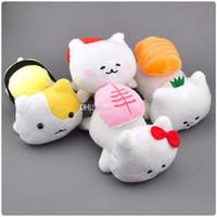 spielzeug amüsant plüsch großhandel-Heißes Art-Sushi-Katzen-Plüsch-angefülltes Spielzeug Verkauf San-x AMUSE 4 für Kinder beste Feriengeschenke 8inch 20cm Großverkauf