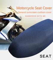 3d rolle großhandel-Motorradteile Hohe Qualität Sonnenschutz E-bike Roller Sitzbezug 3D Atmungsaktiv Vier Jahreszeiten Universal Weiche Leichte