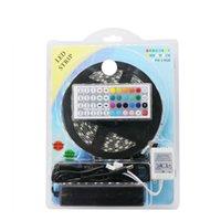 tira llevada paquete rgb al por mayor-Impermeable IP65 5050 LED Strip Kit Blister Embalaje 5M 300LEDs 12V RGB Flexible Strip Light +44 Controlador de teclas + 12V Adaptador 3A
