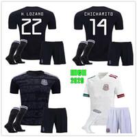 Wholesale men kits for sale - Group buy Mexico kit men Mexico Soccer Jerseys Kit A GUARDADO CHICHARITO Jersey H LOZANO Football Shirt CARLOS V Mens Mexico Jersey Kit
