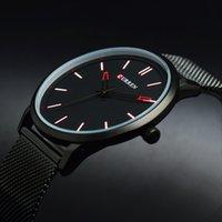 relojes masculinos delgados al por mayor-Curren ultra delgado reloj de pulsera de los hombres 2017 de acero inoxidable hombre cuarzo hombres reloj de pulsera hombre relogio masculino de luxo