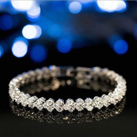Wholesale mexican gold price bracelet 18k for sale - Group buy 18K White Gold Plated Shiny Zirconia Rhinestone Crystal Bracelet for Women Wedding Jewelry Bangles Cheap Price