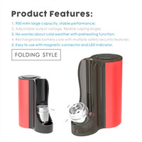 Wholesale atomizer for pipes resale online - Authentic VAPMOD Pipe Box Mod mAh Adjustable Voltage Battery With LED Indicator For Thread Thick Oil Cartridges Atomizer
