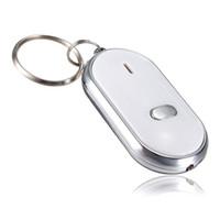 sons chaveiro venda por atacado-1 Pcs LED Anti-Perdido Localizador Chave Encontrar Localizador Keychain Apito Beep Controle de Som Da Tocha 6 * 4.3 cm
