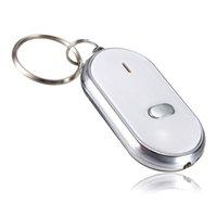 key finder locator großhandel-1 Stücke LED Anti-Lost Key Finder Finden Locator Keychain Pfeife Piepton Sound Control Taschenlampe 6 * 4,3 cm