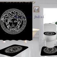 douche style classique achat en gros de-Classics Déesse d'impression Rideau Fashion Design Salle de douche Rideau Nous vendons aussi le même style Tapis Noir Ensembles Nouveaux Poliban