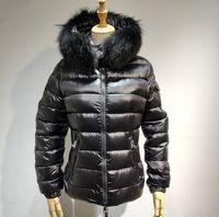 kadın için ince ceket toptan satış-Yeni Ceket sıcak satış kadın ceket kış ceket kalınlaşma Kadın Giysileri hood aşağı ceket Ince 100% Tilki kürk Parka S-XL BADYFUR