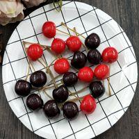 ingrosso arredamento per giardino-10 PCS Cherry Fruit artificiale falso simulare frutta e verdura Schiuma Wedding Party Garden Decor Mini simulazione di frutta